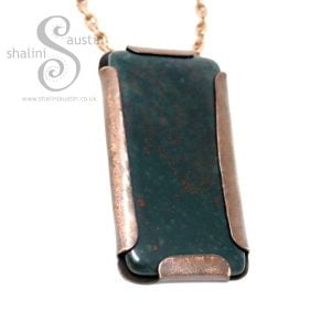Rock Pendant - Bloodstone Set in Copper