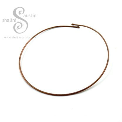 Hammered Copper Torc Necklace