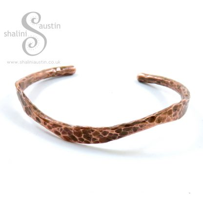 Rustic Unisex Copper Bangle Bracelet 1