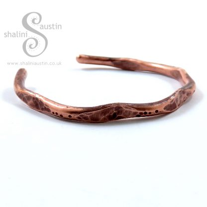 Hammered Unisex Copper Bangle Bracelet