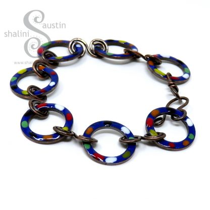 Enamelled Copper Bracelet Royal Blue - TUTTI FRUTTI