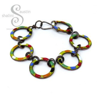 Enamelled Copper Bracelet TUTTI FRUTTI – Yellow