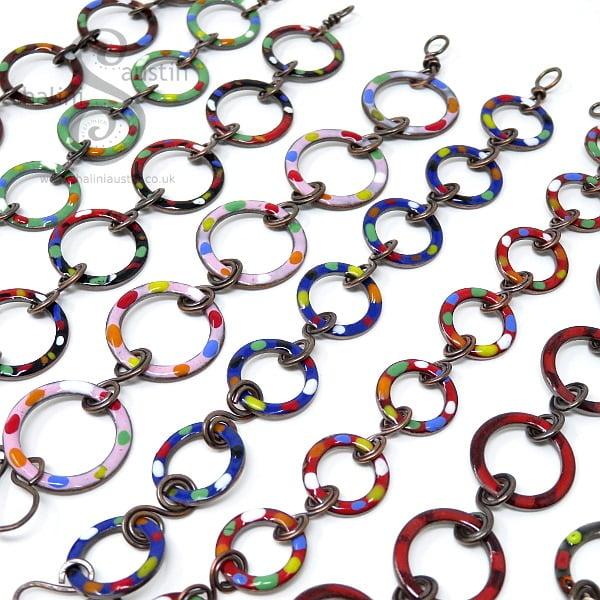 Enamelled Copper Bracelet TUTTI FRUTTI