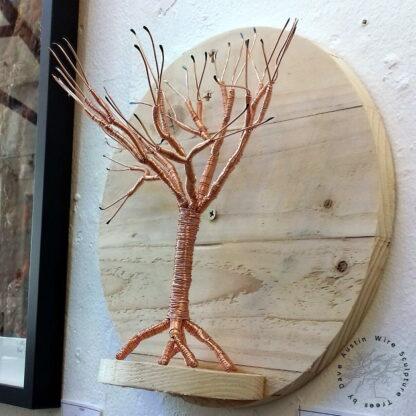 Copper Wire Tree on Salvaged Pallet Shelf by Dave Austin