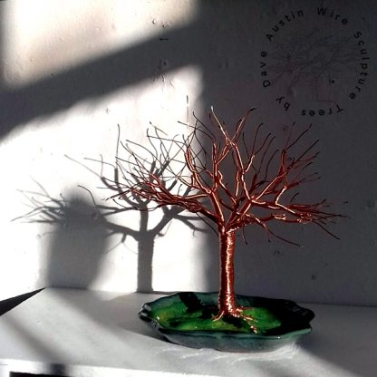 Copper Wire Tree Sculpture by Dave Austin