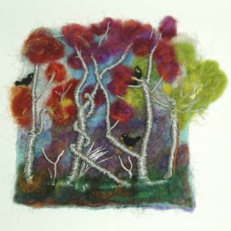Felt & Wire Original Wall Art AUTUMN FOREST
