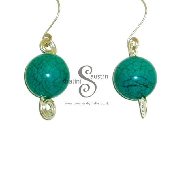 Chunky Turquoise Earrings