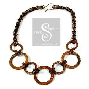 Copper Circles Necklace 02