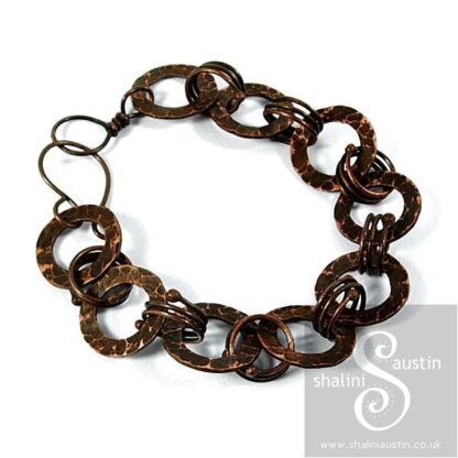 Antique Finish Copper Circles Bracelet DOMINIQUE