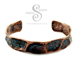 Upcycled Copper Pipe Cuff 'Fancy'