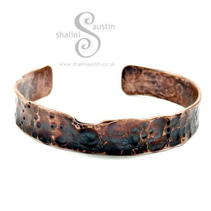 Upcycled Copper Pipe Cuff FANCY 03
