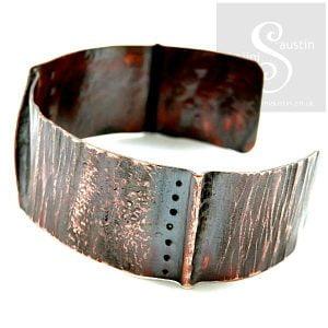 Fold Formed Copper Cuff 10