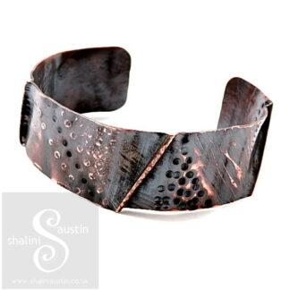 One-Off Wearable Copper Art Cuff Bracelet 09