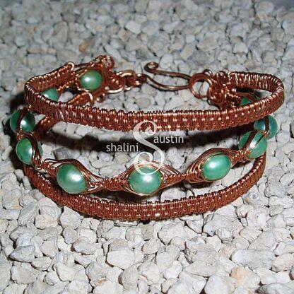 Wire Weave Bracelet 'Suzanne'