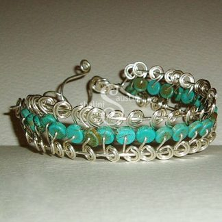 Turquoise Wire Cuff