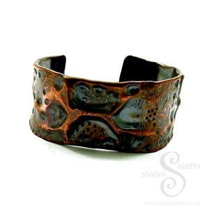 Wide Copper Cuff Bracelet FANTASY | Made to Order