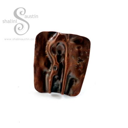 Rustic Copper Ring - Air-Chased