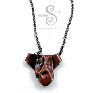 Fun Copper Pendant WOOF - Antique Finish