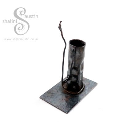 Antique Finish Copper Candle Stand VINE