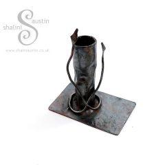 Antique Finish Copper Candle Stand VINE