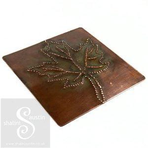 Textured Copper Coaster MAPLE LEAF