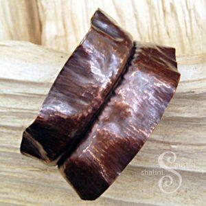 Wearable Copper Art - Unisex Fold-Formed Copper Cuff 02