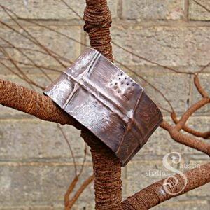 Unisex Fold-Formed Copper Cuff Bracelet