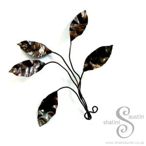 Handmade to Order – Small Copper Sculpture LEAF SPRAY