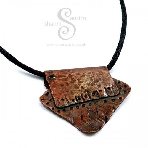 Textured Copper One-Off Pendant 02