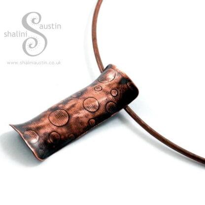 Embossed Copper Pendant BUBBLES
