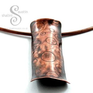 Embossed Copper Pendant BUBBLES