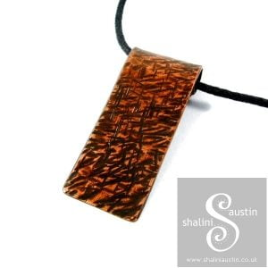 Textured Copper Pendant
