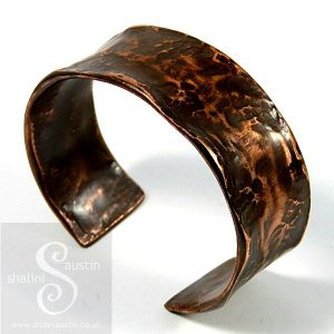 Hand Forged Upcycled Copper Pipe Cuff 05