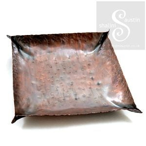 Copper Dish 8-9 cm Square | Handmade to Order