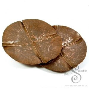 Copper Trinket Tray: Round Fold Formed Dish