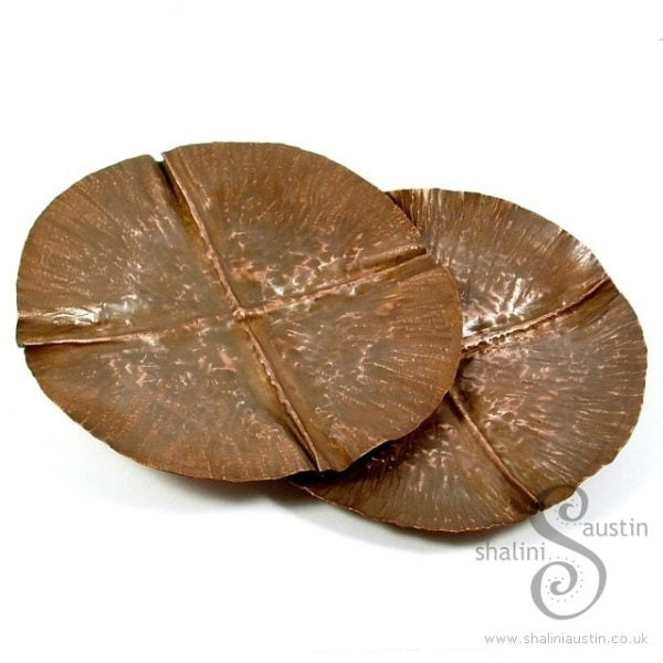 Copper Trinket Tray: Round Fold Formed Dish