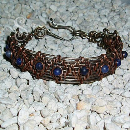 "Wire Weave Bracelet ""Danielle"" with Sodalite"