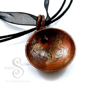 Sold: Etched Copper Pendant 01