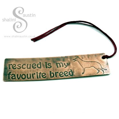 Sold: Bookmarks RESCUED IS MY FAVOURITE BREED – Dog
