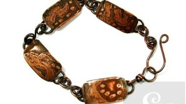 Sold: One-Off Etched Copper Bracelet