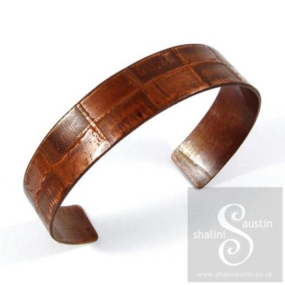 'Another Brick in the Wall' Etched Copper Cuff 03