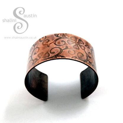 'Flora' Embossed Copper Cuff 02