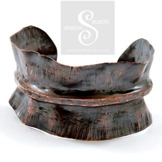 Fold Formed Copper Cuff 08