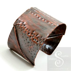 Unisex Fold-Formed Copper Cuff 07