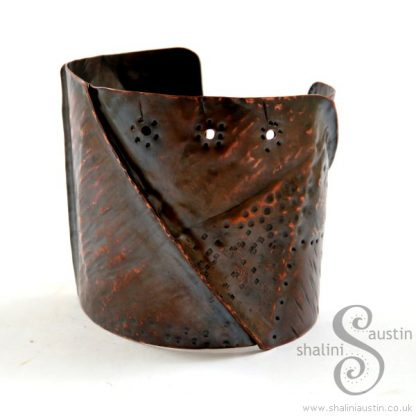 Fold Formed Copper Cuff 12