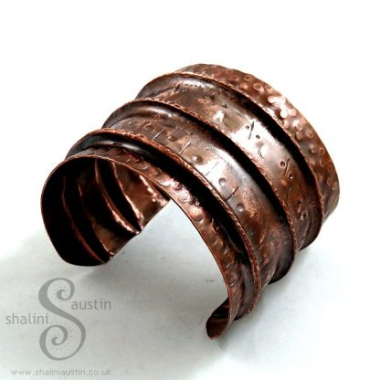 Antique Finish Fold-Formed Copper Art Cuff SAREE