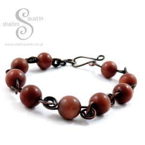 Goldstone & Copper Bracelet