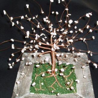 Wire and Mother of Pearl Tree