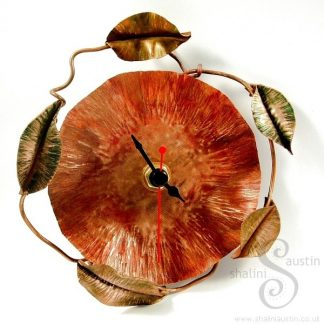 Copper Wall Clock POPPY