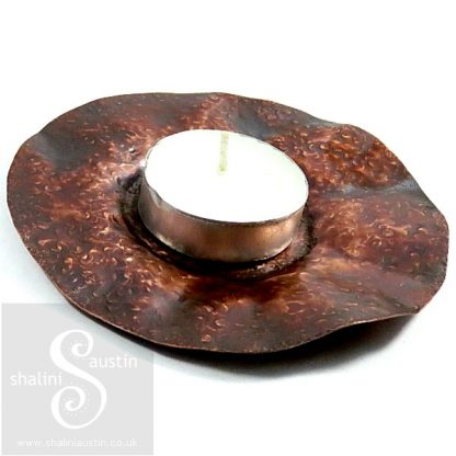 Copper Trinket Tray: Round Dish - 11 cm